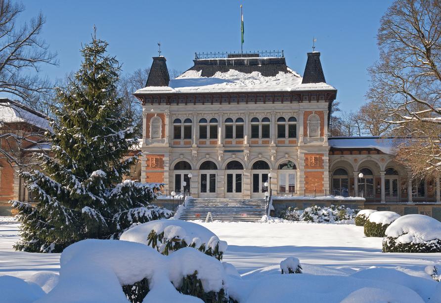 Hotel König Albert in Bad Elster, Königliches Kurhaus im Winter