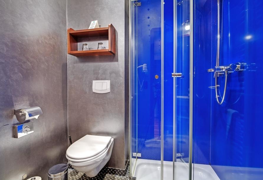 Hotel Dömitzer Hafen, Beispiel Badezimmer