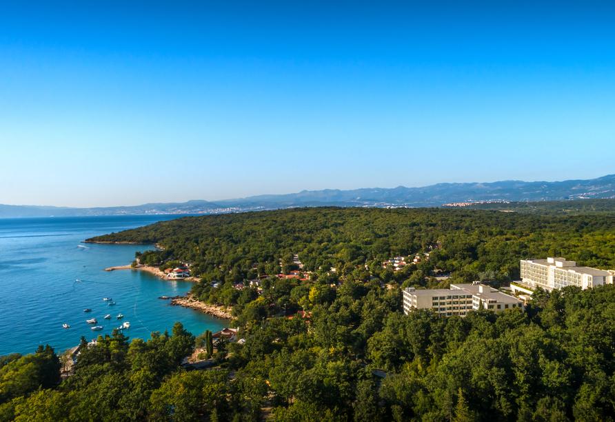 Hotel Aminess Magal in Njivice, Kroatien, Hotel