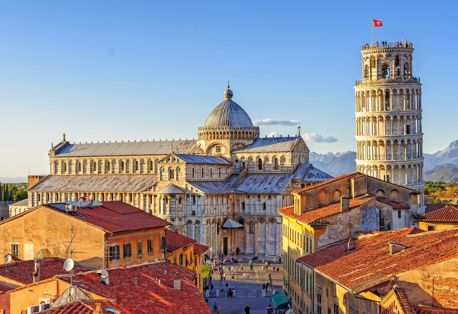 Rundreise Italien Toskana, Schiefe Turm von Pisa