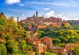 Rundreise Italien Toskana, Panorama Siena