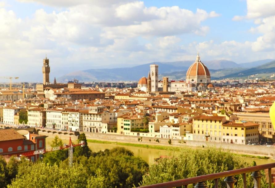 Rundreise Italien Toskana, Panorama Florenz