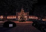 Hotel König Albert in Bad Elster, Weihnachtsbaum am Königlichen Kurhaus