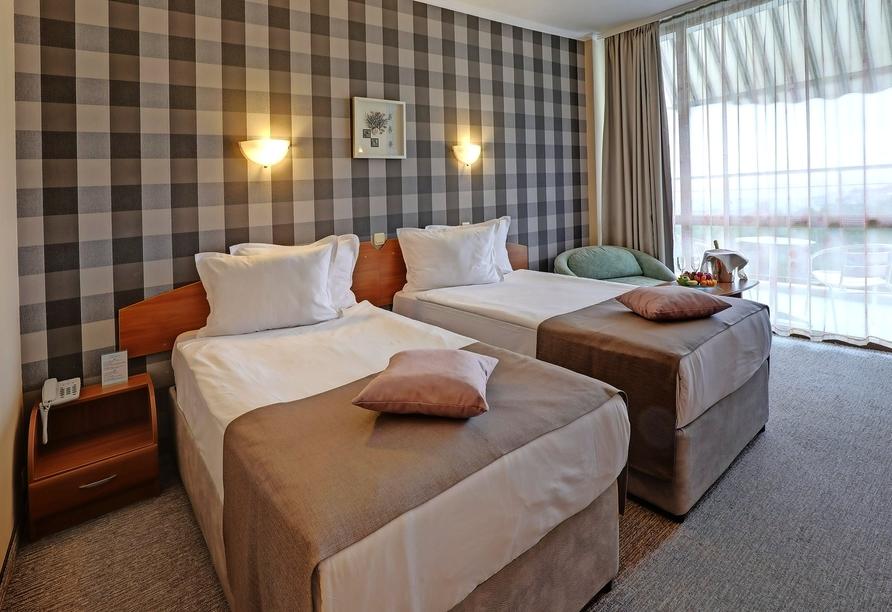 Hotel MiRaBelle Goldstrand, Beispiel Doppelzimmer mit seitlichem Meerblick