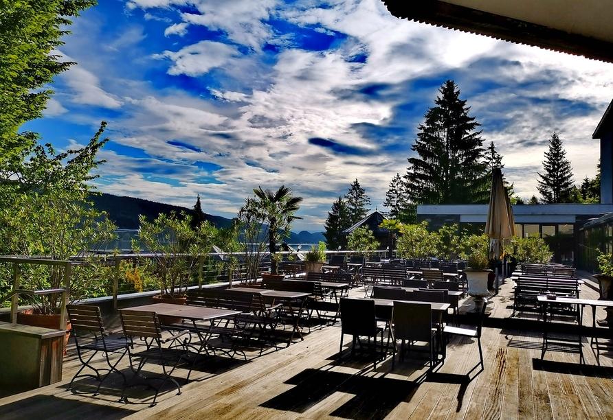 Hotel Parks, Velden Österreich, Terrasse