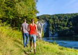 Das Donauufer lädt zu schönen Spaziergängen und Wanderungen ein.