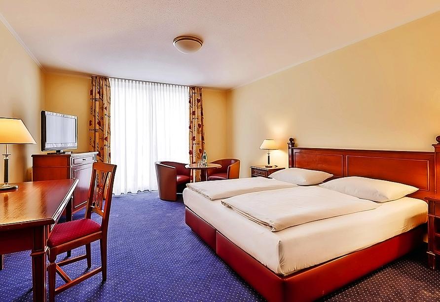 Beispiel eines Doppelzimmers Superior im Dorint Marc Aurel Resort Bad Gögging
