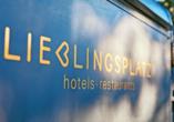 Lieblingsplatz Strandhotel St. Peter-Ording, Schild mit Logo