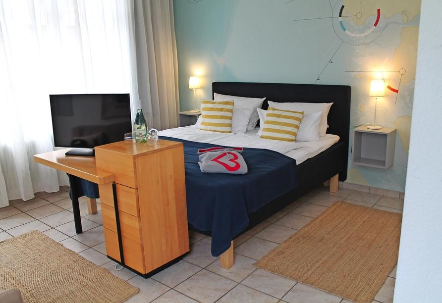 Lieblingsplatz Strandhotel St. Peter-Ording, Beispiel Doppelzimmer Basic