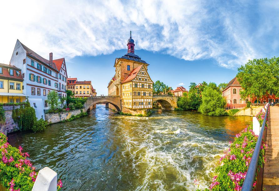 Die Weltkulturerbestadt Bamberg wird Sie begeistern.