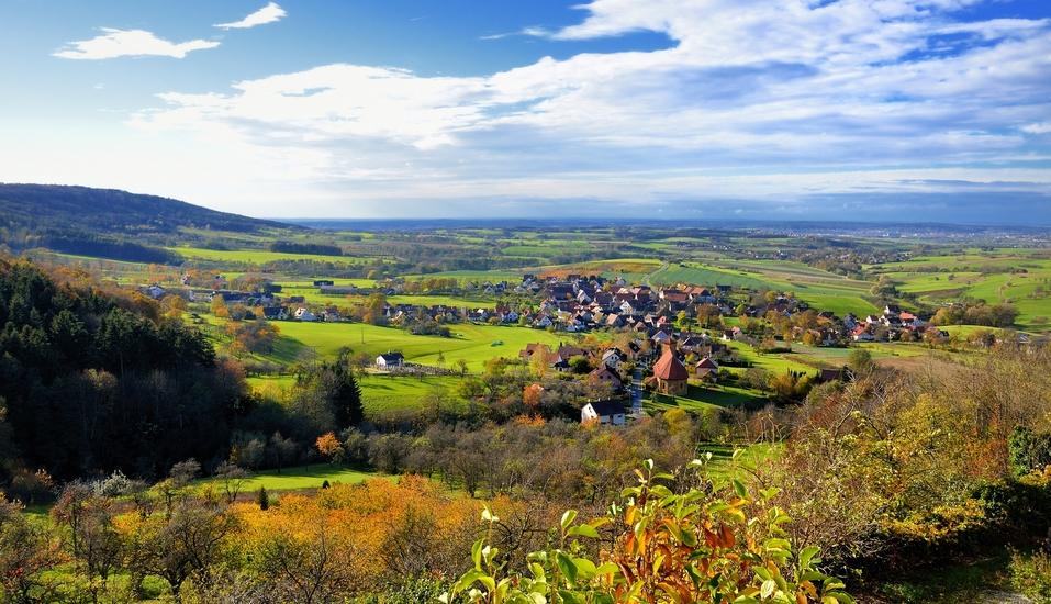 Freuen Sie sich auf einmalige Ausblicke wie bei Weingarts in der Fränkischen Schweiz.
