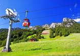 Nutzen Sie die Vorteile der Saalachtaler Sommercard und fahren Sie mit einer Bergbahn auf den Gipfel.