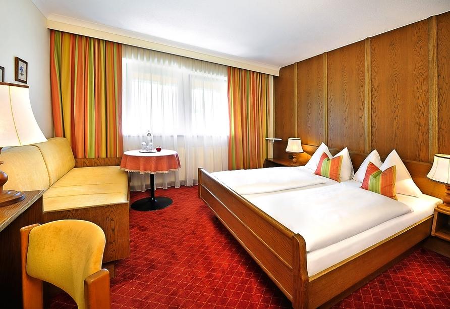 Beispiel eines Doppelzimmers im Hotel St. Hubertus in Lofer