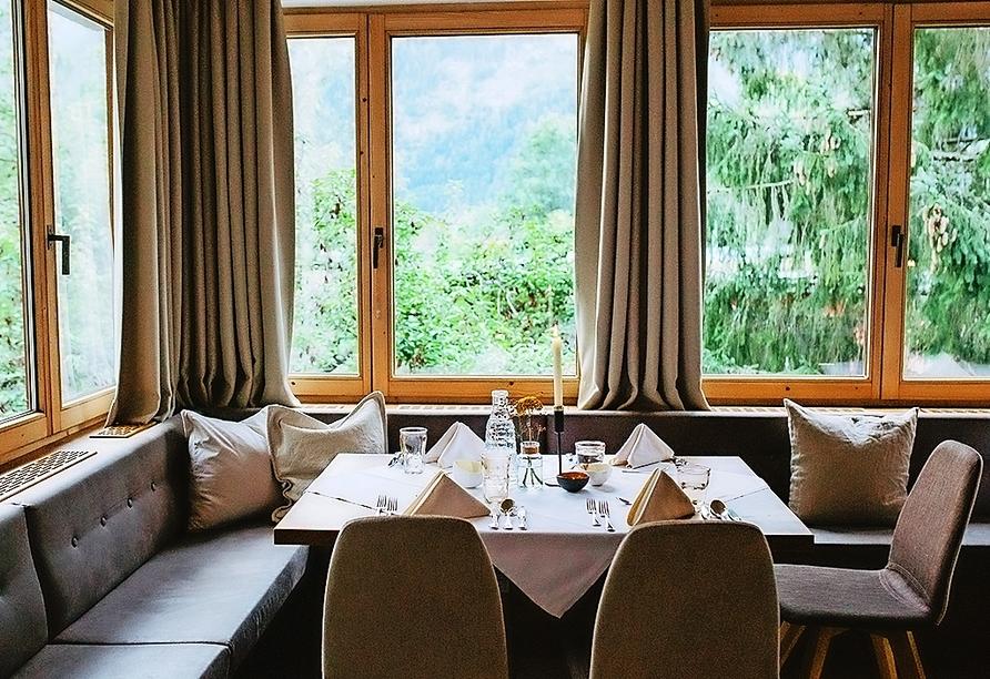 Genießen Sie gutes Essen in schöner Atmosphäre im Hotel St. Hubertus in Lofer.