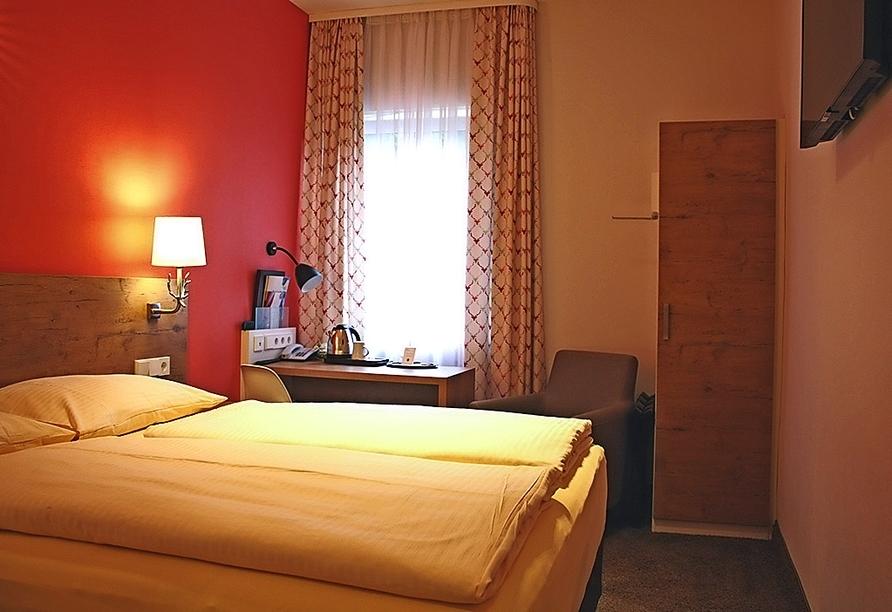 Beispiel eines Doppelzimmers Queensize im Hotel Azenberg in Stuttgart