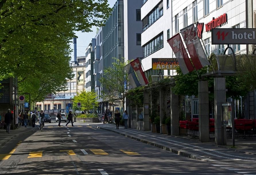 Hotel Wartmann in Winterthur, Schweiz, Außenansicht