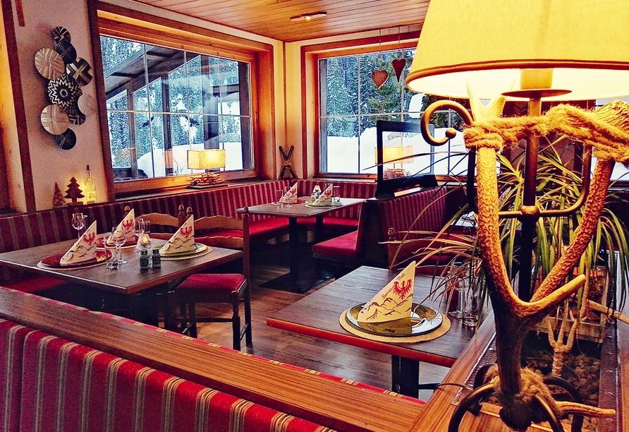 Hotel Alpenhof in St. Anton am Arlberg, Österreich, Restaurant