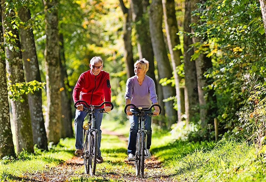 Die unmittelbare Umgebung des Hotels lädt zu wunderschönen Radtouren und Wanderungen ein.