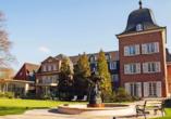 Die Hotel-Residence Klosterpforte begrüßt Sie mit einer großen Anlage und langer Geschichte.