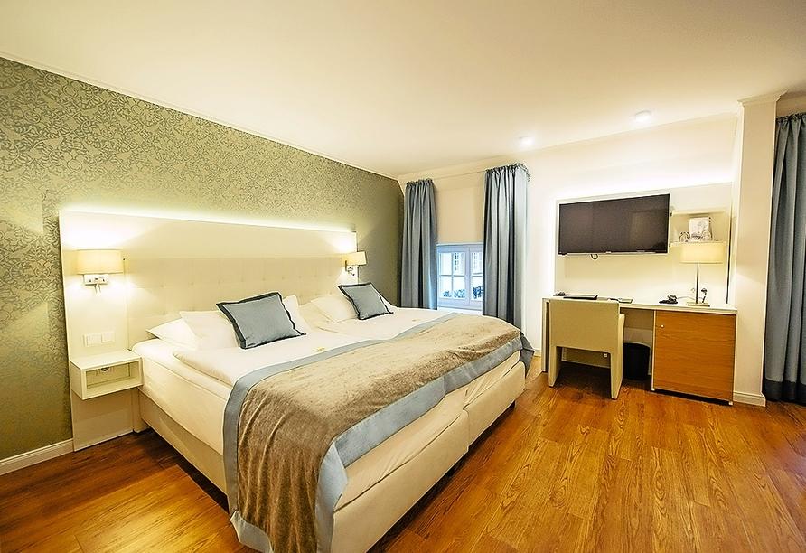Beispiel eines Doppelzimmers Deluxe (Haupthaus) in der Hotel-Residence Klosterpforte