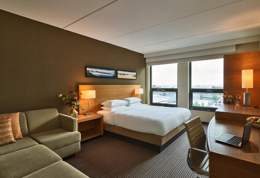 Beispiel eines Doppelzimmers im Hyatt Place Amsterdam Airport.