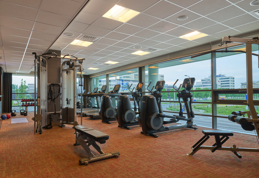 Powern Sie sich Fitnessraum des Hyatt Place Amsterdam Airports aus.