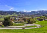 Blick auf Sonthofen mit den Allgäuer Alpen im Hintergrund