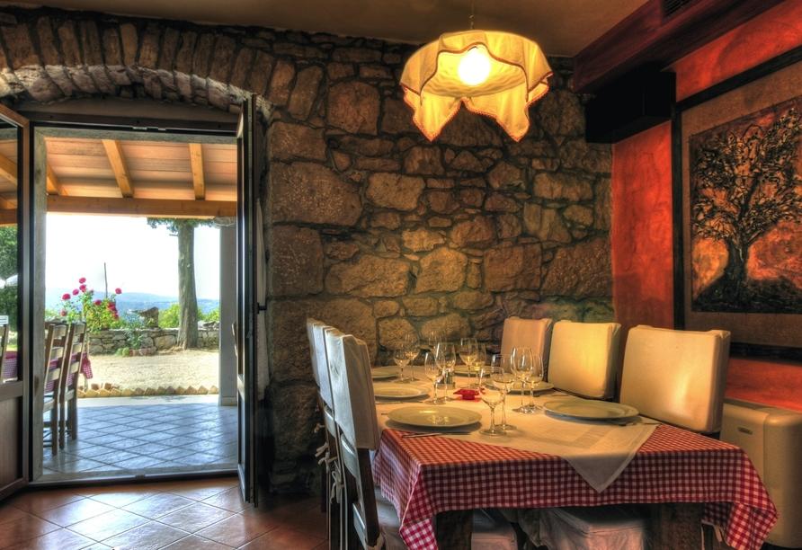 Villa Calussovo in Labin, Kroatien, Restaurant