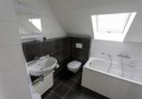 Freuen Sie sich auf moderne Badezimmer in den Appartements und Villen.