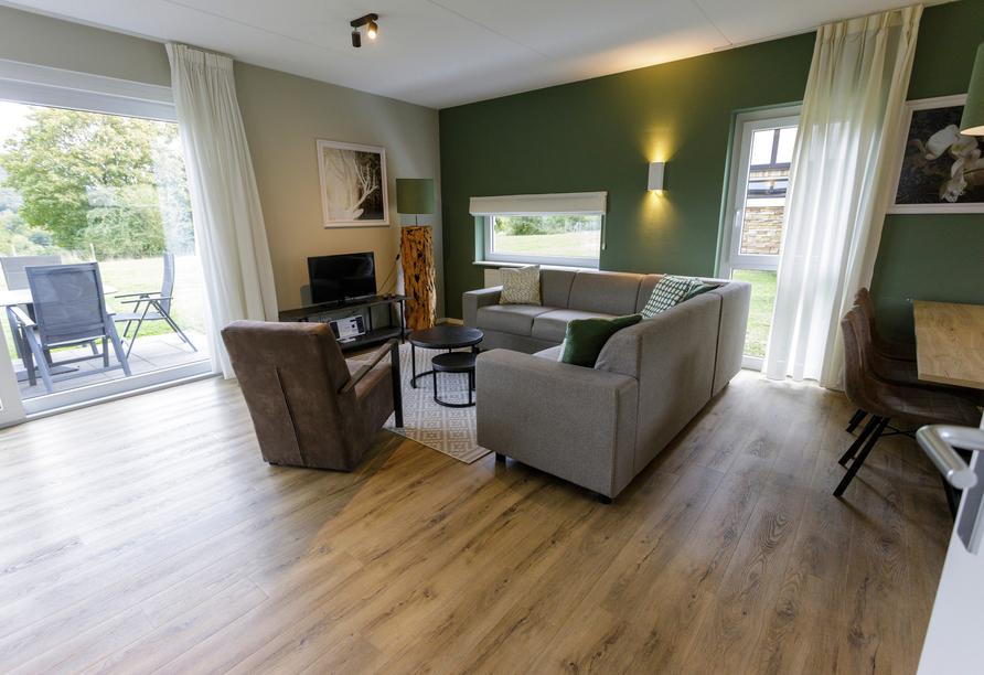Beispiel für den Wohnbereich in der Villa Edersee.