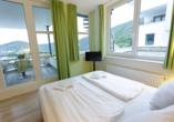 Beispiel für ein Schlafzimmer im Appartement Ammersee Komfort.