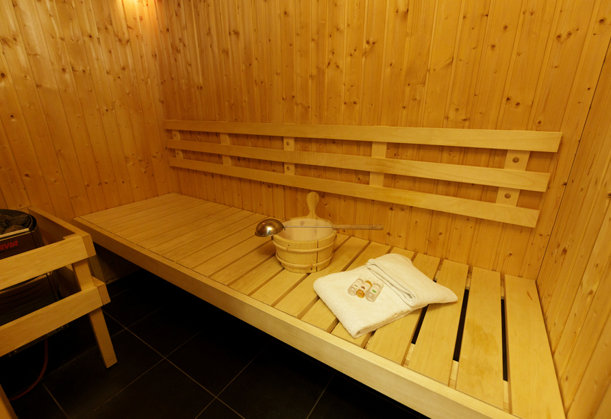 Beispiel für eine private Sauna.