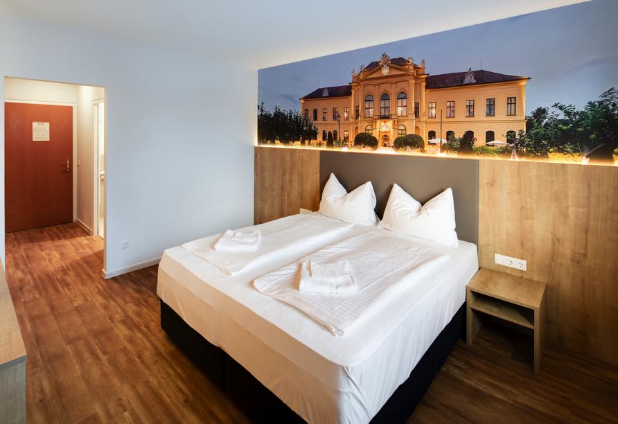 Hotel Am Sachsengang in Groß-Enzersdorf, Österreich,  Zimmerbeipiel