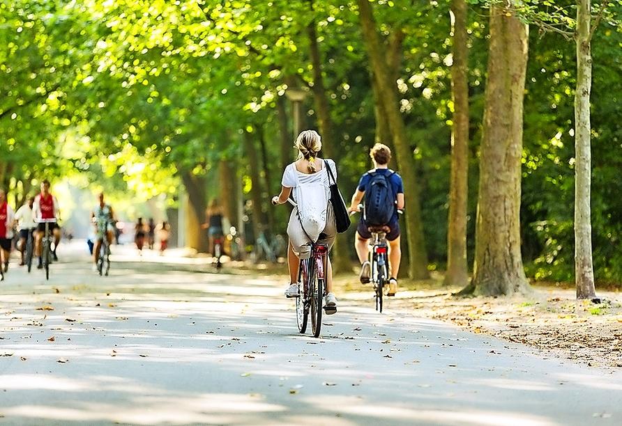 Auch mit dem Fahrrad lässt sich die Stadt wunderbar erkunden.