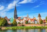 Blick auf Ulm an einem sonnigen Tag