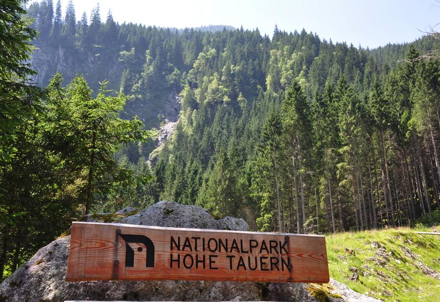 Natur pur genießen Sie im Nationalpark Hohe Tauern.