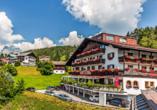 Hotel Habhof in Mösern bei Seefeld in Tirol, Außenansicht Hotel