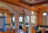 Hotel Habhof in Mösern bei Seefeld in Tirol, Essbereich