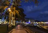 Rocamar Lido Resorts in Caniço, Straße Lichter