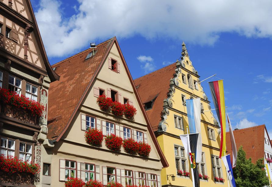 Die historischen Hausfassaden in der Alstadt sind schön anzusehen.