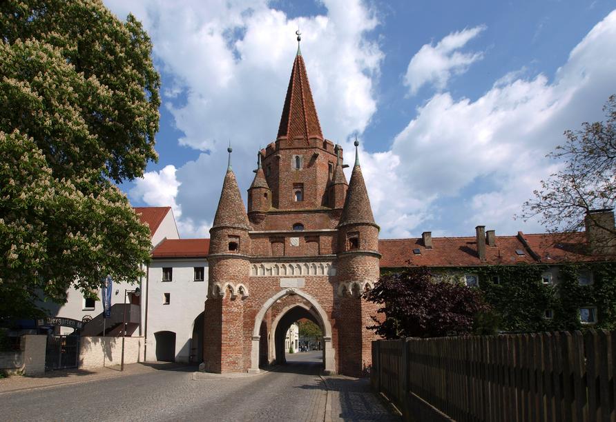 Das eindrucksvolle Stadttor in Ingolstadt