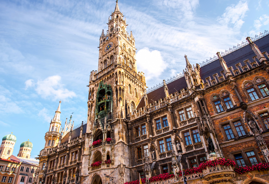 Der Marienplatz in München ist das Herzstück der Stadt.