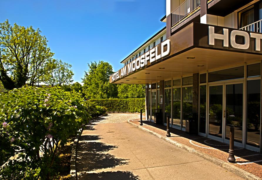 Herzlich willkommen im Hotel Am Moosfeld in München.