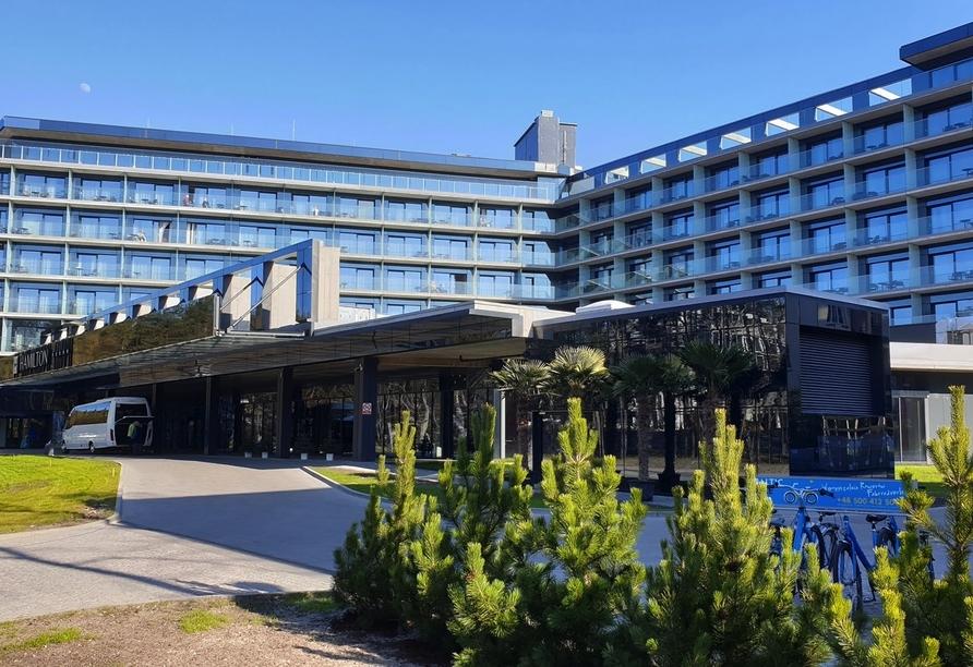 Hotel Hamilton in Swinemünde, Polen, Außenansicht