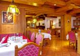 Lassen Sie sich im Restaurant des Hotels Rupertihof kulinarisch verwöhnen.