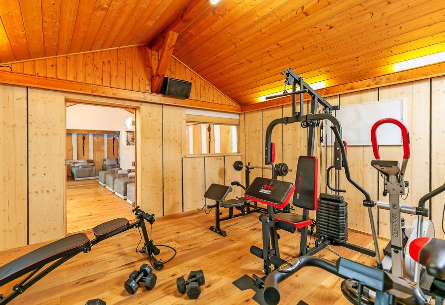 Powern Sie sich im Fitnessraum des Hotels Rupertihof aus.