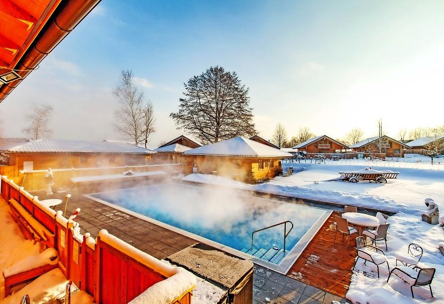 Hier lässt es sich auch im Winter herrlich entspannen.