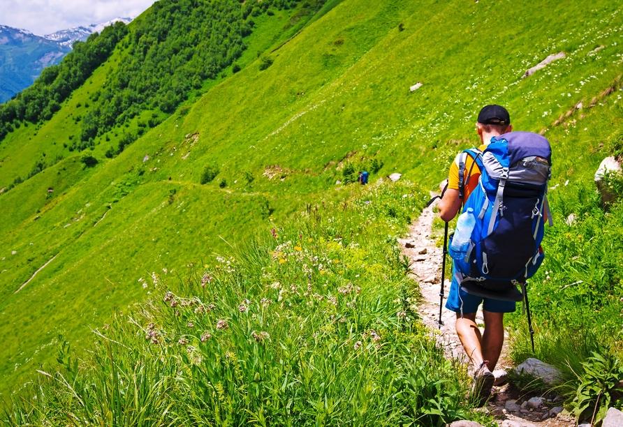 Parsenn Resort Davos Schweiz, Wanderer