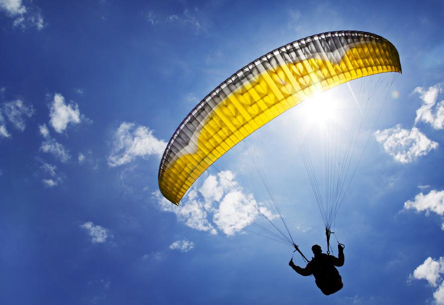 Die Wildschönau ist ein beliebtes Gebiet für Paraglider.
