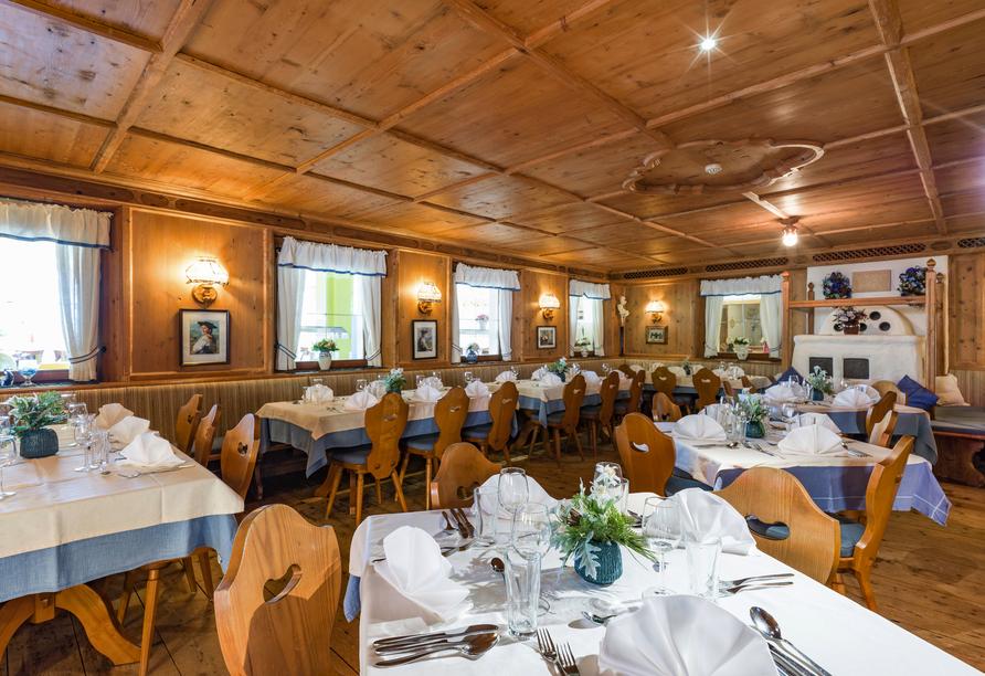 Im Restaurant Ihres Hotels verwöhnt man Sie nach Strich und Faden.